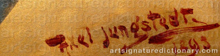 Signature by Axel JUNGSTEDT