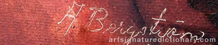 Signature by Alfred BERGSTRÖM