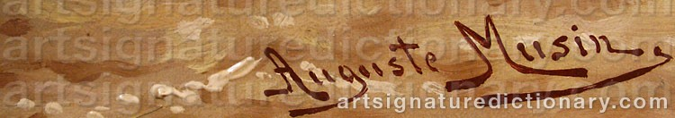 Signature by Auguste MUSIN