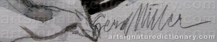 Signature by Gerd MILLER