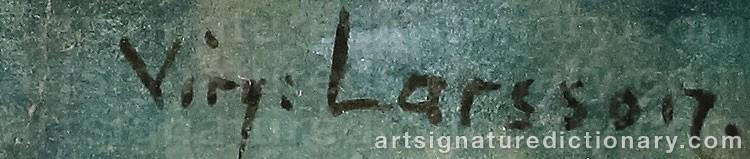 Signature by Virginia LARSSON