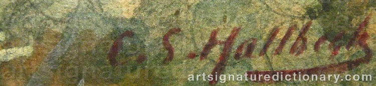 Signature by Carl Svante HALLBECK