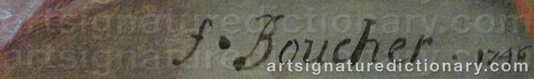 Signature by François BOUCHER