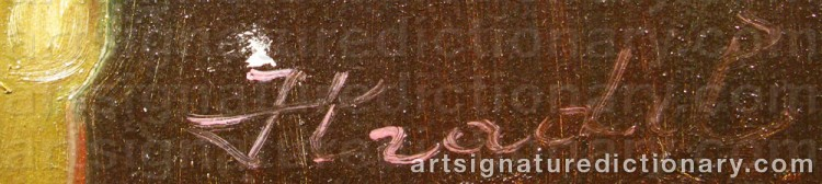 Signature by Béla HRADIL