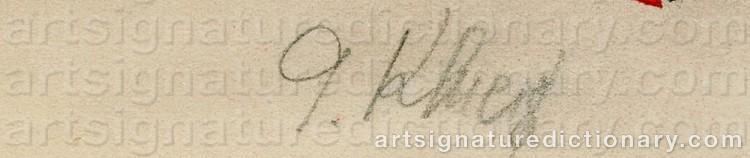 Signature by Gustav Gustavovich KLUTSIS