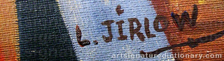 Forged signature of Lennart JIRLOW
