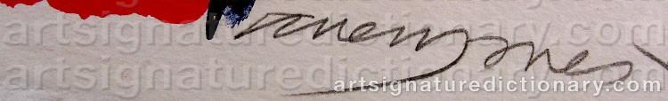 Signature by Allen JONES