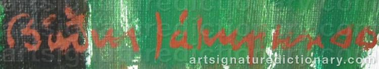 Signature by Bardur JAKUPSSON