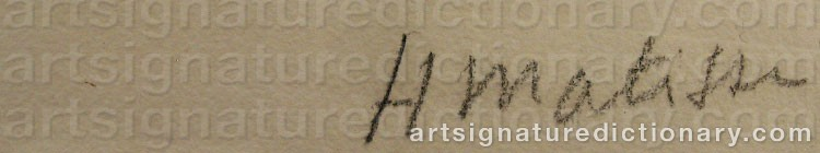 Signature by Henri MATISSE