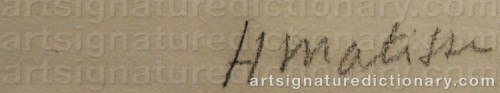 Signature by: MATISSE, Henri