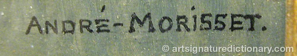 Signature by André MORISSET