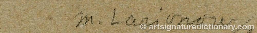 Signature by Mikhail Feodorovich LARIONOV