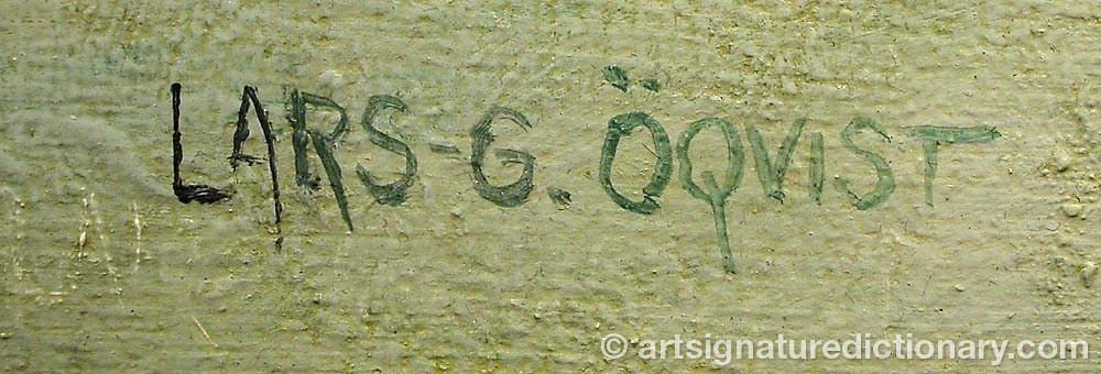 Signature by Lars-G. ÖQVIST