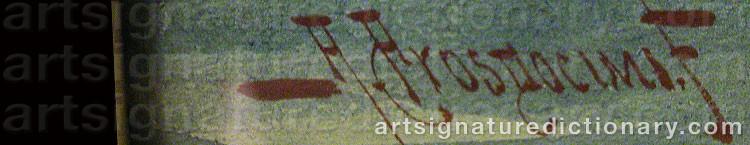 Signature by Alberto PROSDOCIMI