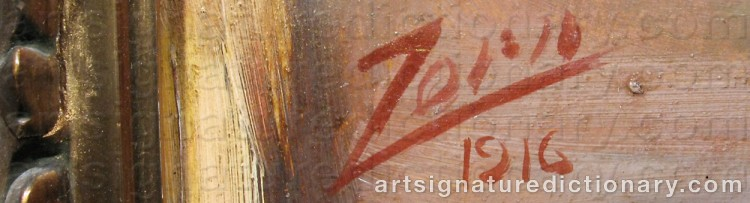 Forged signature of Anders ZORN
