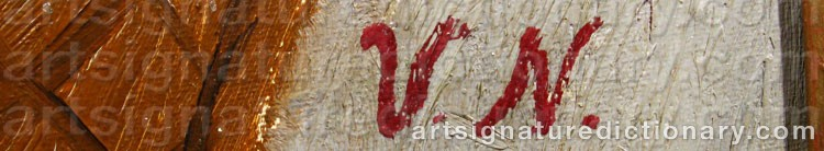 Forged signature of Vera NILSSON