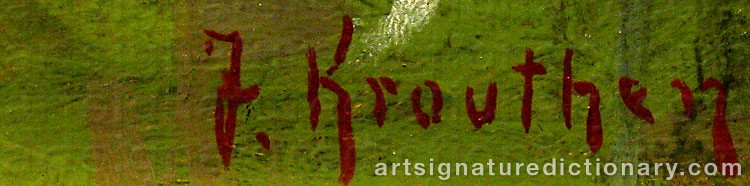 Forged signature of Johan KROUTHÉN