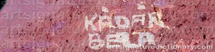 Signature by Béla KÁDÁR