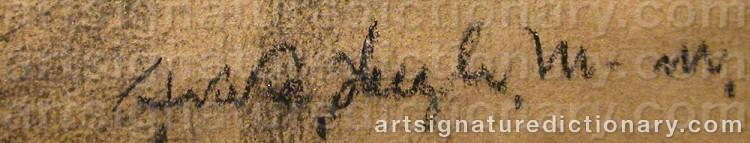 Signature by Akke Hugh MALMESTRÖM