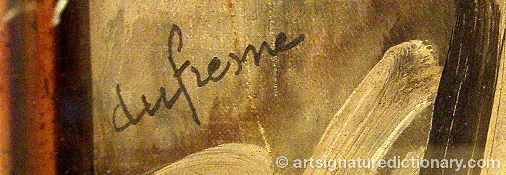 Signature by Charles DUFRESNE