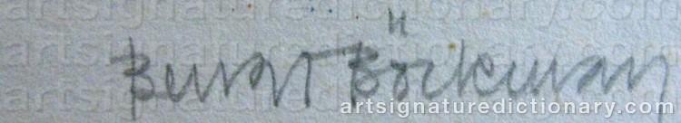 Signature by Bengt BÖCKMAN