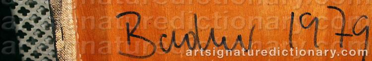 Signature by Frank BADUR