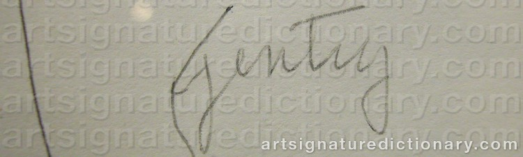 Signature by Herbert GENTRY