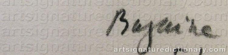 Signature by Jean René BAZAINE