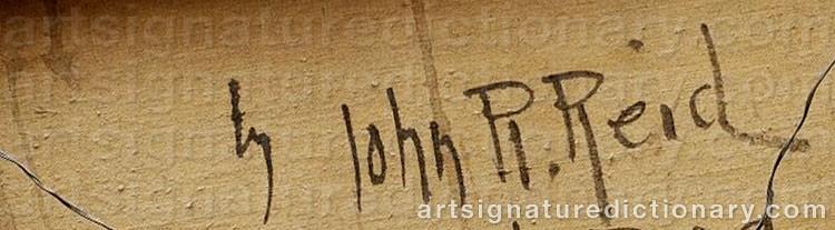 Signature by John Robertson REID
