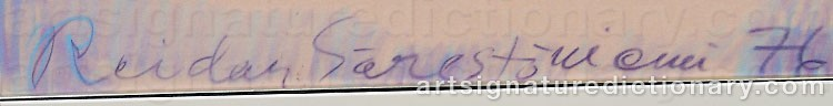 Signature by Reidar SÄRESTÖNIEMI