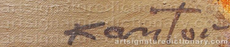 Signature by Tadeusz KANTOR
