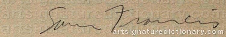Signature by Sam FRANCIS