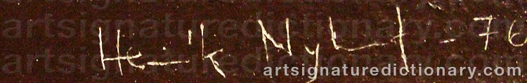 Signature by Henrik NYLUND