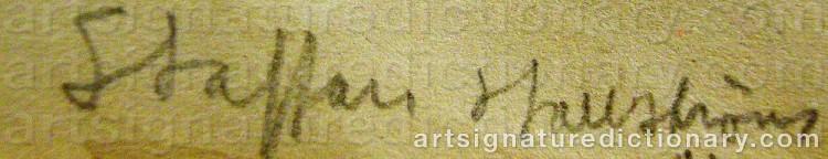 Signature by Staffan HALLSTRÖM