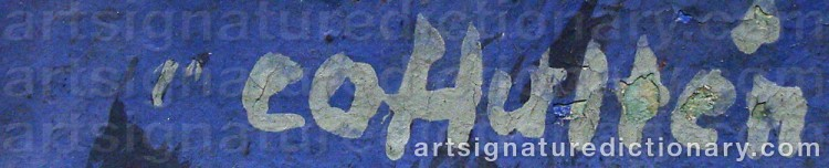 Signature by Carl Otto HULTÉN