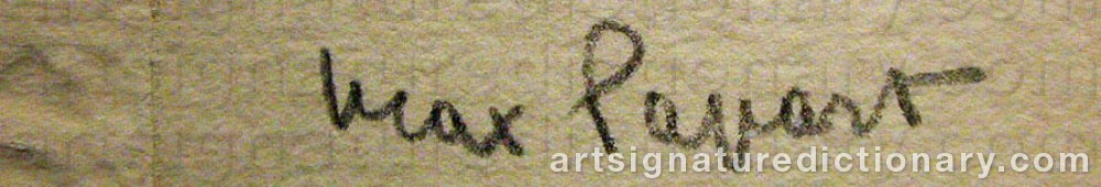 Signature by Max PAPART