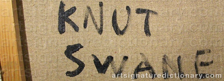 Signature by Knut SWANE