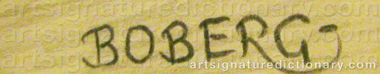 Signature by Ferdinand BOBERG