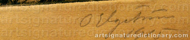 Signature by Ossian ELGSTRÖM