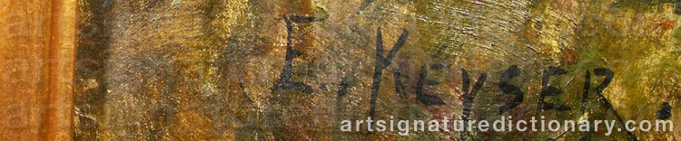 Signature by Elisabeth KEYSER