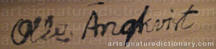 Signature by Olle ÄNGKVIST