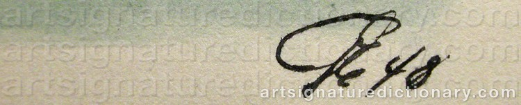 Signature by Gösta ERIKSON