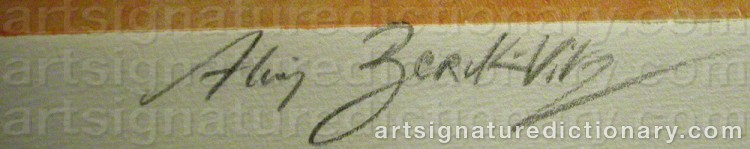Signature by Alain BERK-VITZ