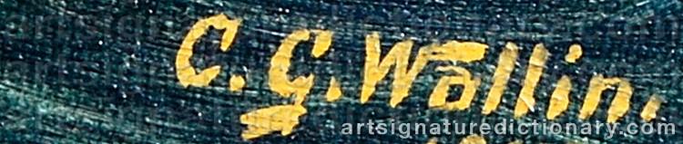 Signature by Carl WALLIN