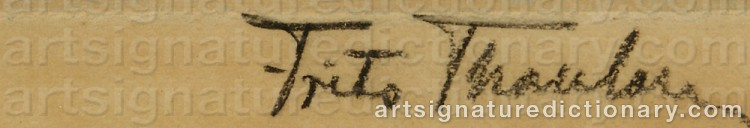 Signature by Frits THAULOW