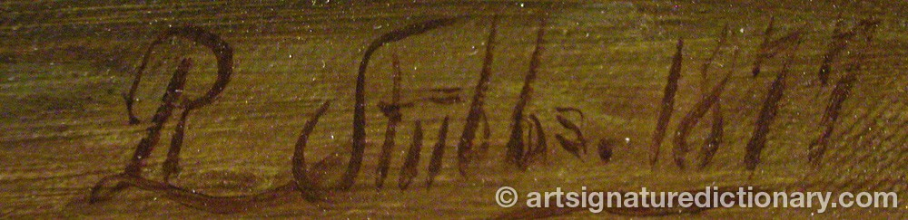 Signature by R STUBBS