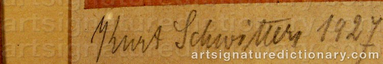 Signature by Kurt SCHWITTERS