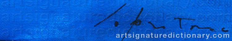Signature by Lucio FONTANA
