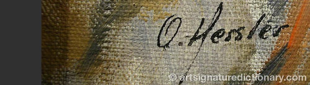 Signature by Otto Rudolf HESSLER