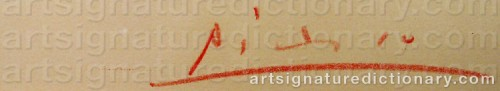 Signature by: PICASSO, Pablo